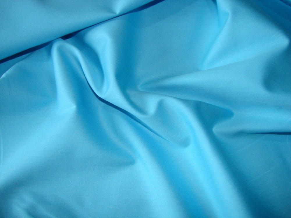 Сатиновое постельное белье голубого цвета