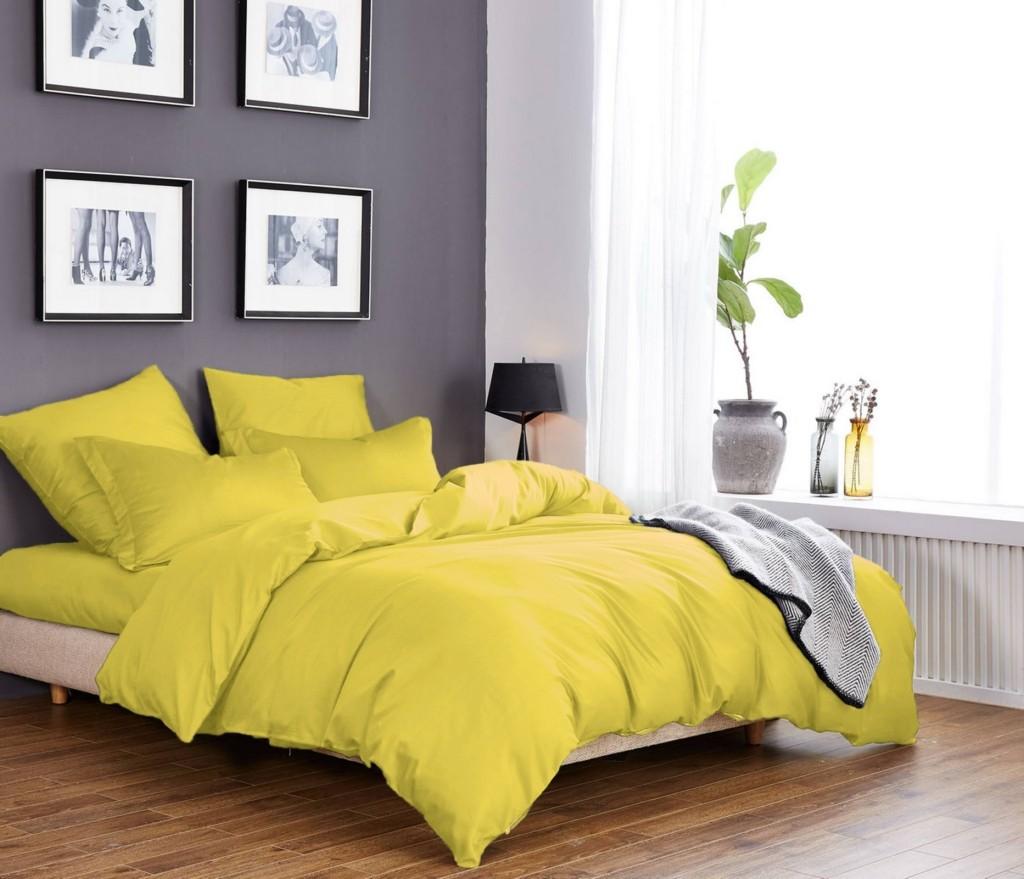 eab58186c097 Постельное белье из ткани сатин желтого цвета | CottonTwill