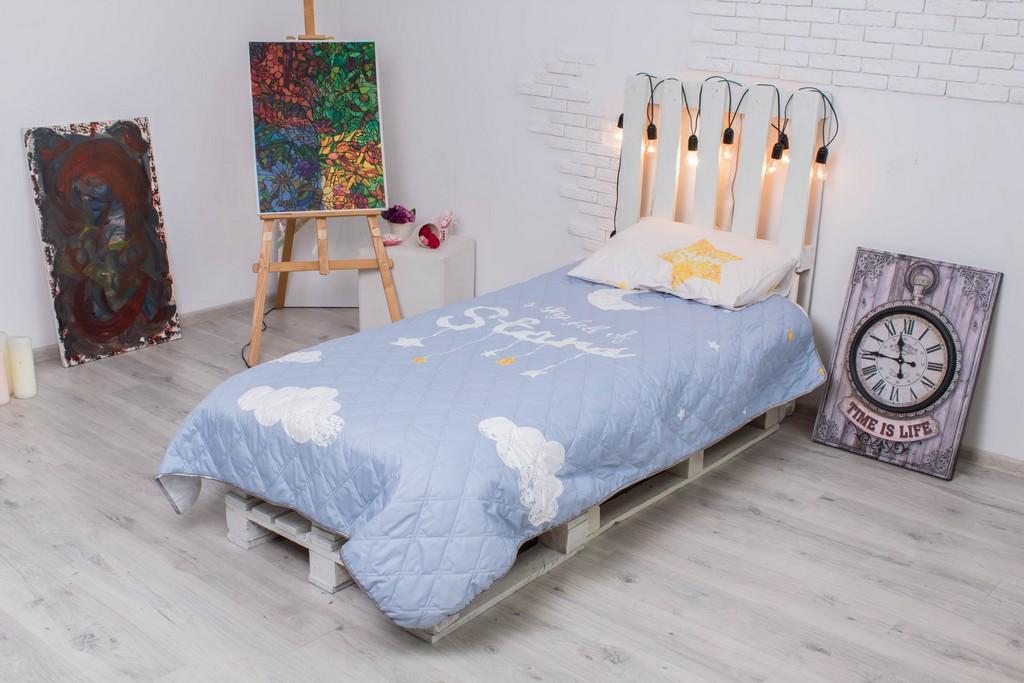 Детское покрывало на кровать Стар 145х205 см + наволочка 50х70 см 3