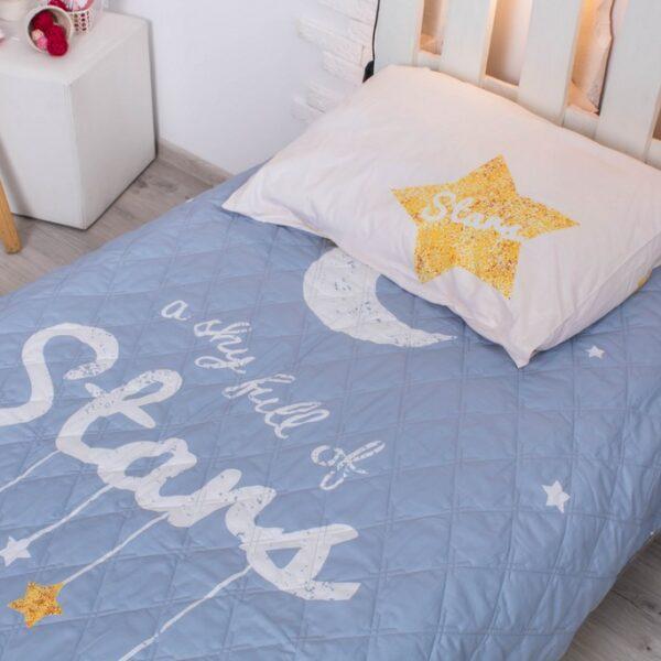 Детское покрывало на кровать Стар 145х205 см + наволочка 50х70 см