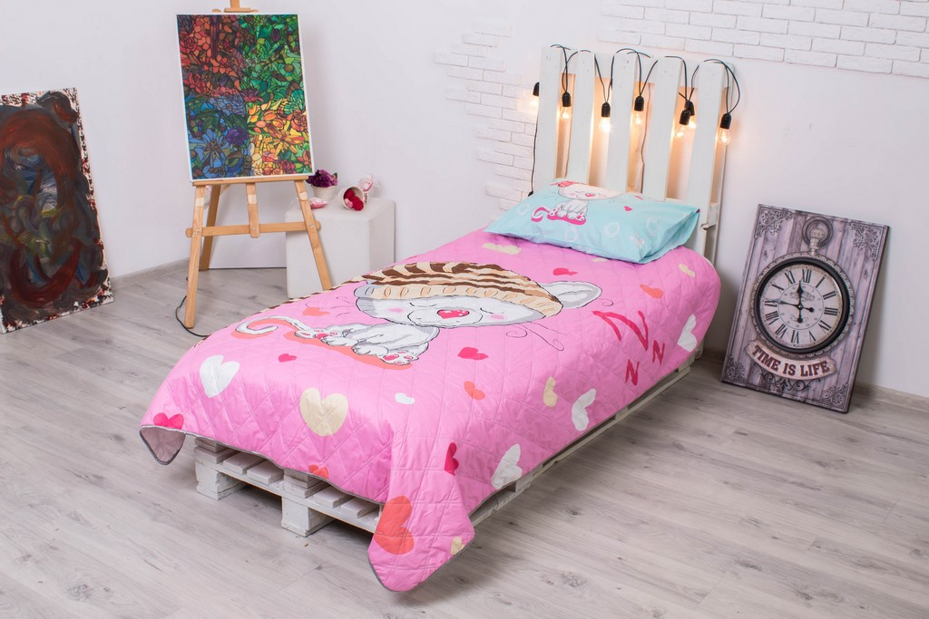 Детское покрывало на кровать Мурлыка 145х205 см + наволочка 50х70 см 2