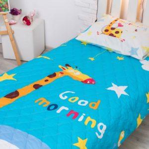 Детское покрывало Доброе утро 145х205 см + наволочка 50х70 см