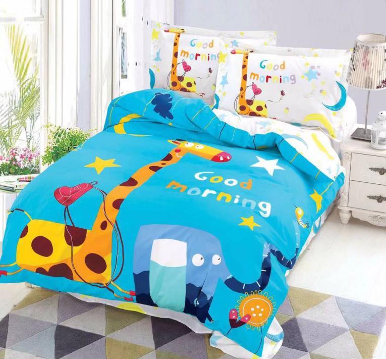 """Постельное белье """"Доброе утро"""", Жирафы, слоны фото"""